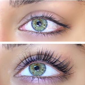 Eye lash lifting at our Southsea and Chichester Medi Spas