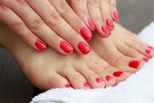 Manicures and Pedicures at our Southsea and Chichester Media Spas
